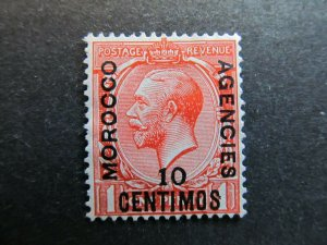 A4P9F4 Great Britain Offices in Morocco 1914-18 10c on 1p mint no gum