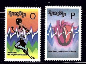 Zambia 621-22 MNH 1993 Healthy Heart    (ap1088)