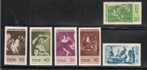 GERMANY - DDR SC# 929-34 VF MNH 1967