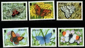 JERSEY SG1279/84 2006 BUTTERFLIES MNH