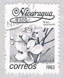 Nicaragua Flower black 10 - pickastamp (AP108726)