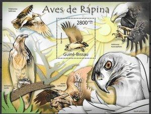 Guinea-Bissau MNH S/S Birds Of Prey 2011