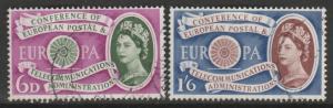GB 1961 1st Anniv of European Postal & Telecommunication Used SG#621-622 S1024