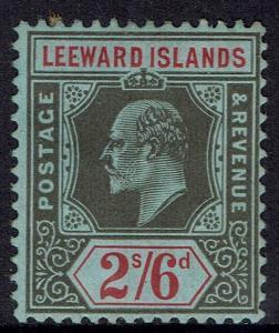 LEEWARD ISLANDS 1907 KEVII 2/6