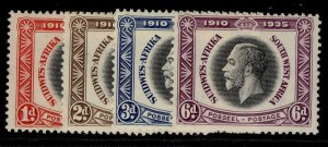 SOUTH WEST AFRICA GV SG88-91, SILVER JUBILEE set, NH MINT. Cat £11.
