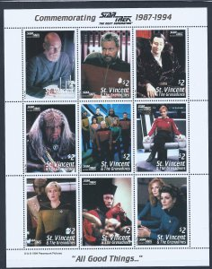 STAR TREK STAMPS FROM ST VINCENT NOT LISTED LOOK!!