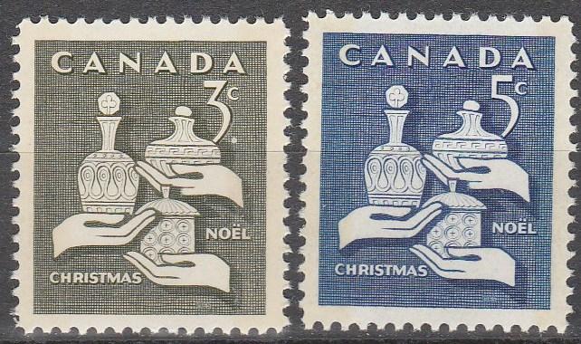 Canada #443p-444p Tagged MNH  F-VF (SU6068)