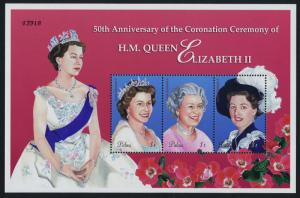 Palau 724 MNH Queen Elizabeth 50th Anniv of Coronation