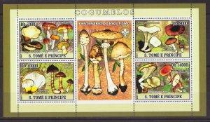 SAO TOME & PRINCIPE MUSHROOM 2 SHEETS 2007 MNH R15504