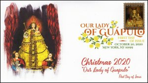 20-263, 2020,Our Lady of Guapulo, First Day Cover, Digital Color Postmark,
