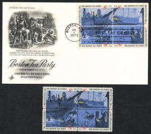 #1483 VAR. BOSTON TEA PARTY DK BLUE LITHO OMITTED MAJOR ERROR UNLISTED WLM4548
