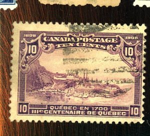 CANADA #101 USED FVF CREASE Cat $125