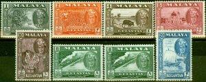 Kelantan 1961-63 Set of 8 SG96-102 Very Fine MNH