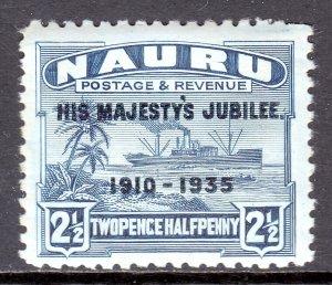 Nauru - Scott #33 - MH - Gun toning, short perfs - SCV $2.50