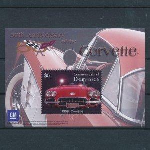 [106587] Dominica 2003 Classic cars Corvette 1959 Souvenir Sheet MNH