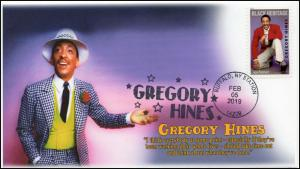 19-047, 2019, Gregory Hines, Pictorial Postmark, Event Cover, Buffalo NY