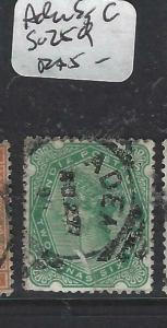 ADEN INDIA USED IN FORERUNNERS  (PP2604B)  ADEN  2A 6P SG Z59 SQ CIRCLE CDS  VFU