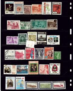 Ecuador #4 32 different all used stamps