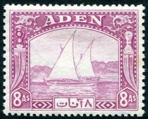 ADEN-1937 8a Pale Purple Sg 8 MOUNTED MINT V31230
