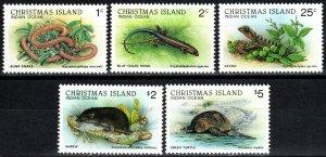 Christmas Island #196-7, 201, 210-11 MNH CV $8.95 (X2076)