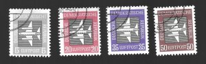 Germany DDR  1957 Airmail Lot  Used