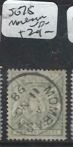 BRITISH EAST AFRICA   (P3105B)  QV  LION  1R    SG 75  MOMBASA SON CDS   VFU