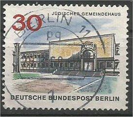 BERLIN, 1966, used 30pf Jewish Community Scott 9N226