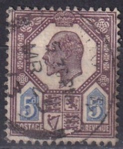Great Britain #134 F-VF Used CV $22.50 (Z3930)