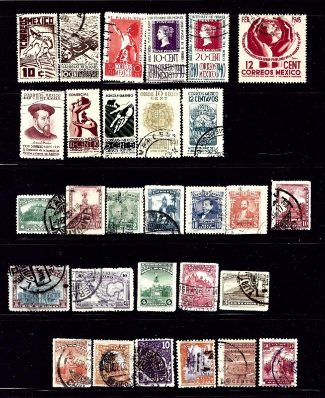 Mexico #1 29 different used stamps