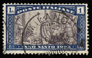01739 Italy Scott B24 1 Lira semipostal used CDS