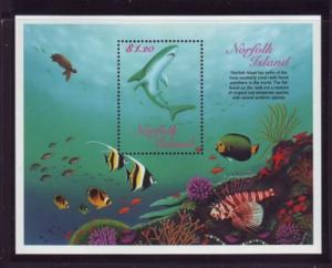 Norfolk Island Sc  658 1998 Reef Fish stamp sheet mint NH