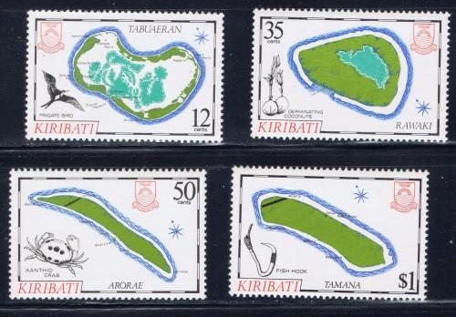 Kiribati 456-59 NH 1985 Maps set