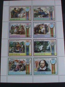 LIBERIA STAMP: 1987-SC#1060 SHAKESPEARE PLAYS MNH FULL  SHEET,