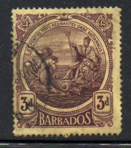 Barbados Sc 132 1916 3d violet Seal of Colony stamp used