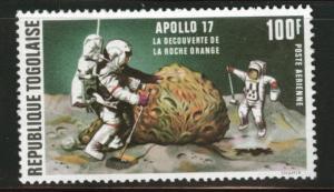 TOGO Scott C196 Airmail stamp  1973 Apollo 17 MNH**