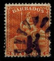 Barbados 55 fine  used bright color