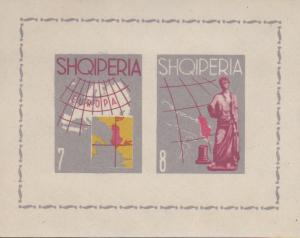 Albania 1962 Europa Propaganda Sheets Perf & Imperf. Offered One Lot XF/NH/(**)