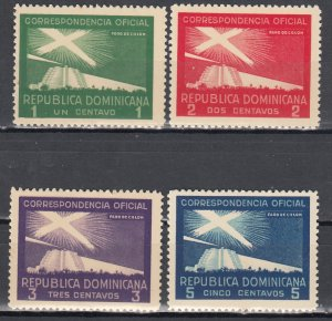 Dominican Republic, Sc O18-O21, mnh, 1939, Proposed Lighthouse
