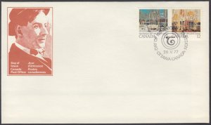 Canada - #734a Tom Thomson Paintings Se-tenant Pair - FDC