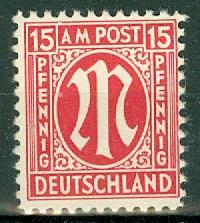 Germany - Allied Occupation - AMG - Scott 3N9 MNH