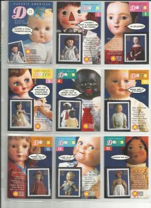 3151a-3151o  Fifteen 32c American Dolls Stampers Cards MNH