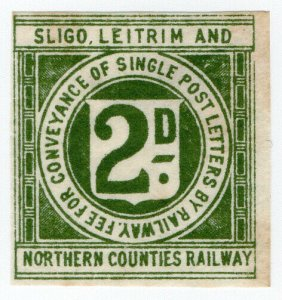 (I.B) Sligo Leitrim & Northern Counties Railway : Letter Stamp 2d