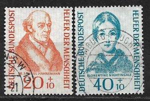 COLLECTION LOT OF # 346-7 GERMANY  SEMI POSTAL 1953+ CV = $31.50
