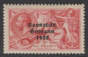 IRELAND SG65 1922 5/= ROSE-CARMINE MTD MINT
