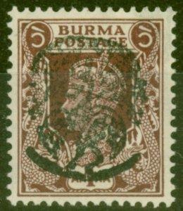Burma 1942 Jap Occu 1a Purple-Brown SGJ5 V.F MNH