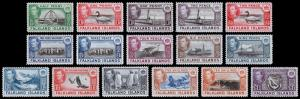 Falkland Islands Scott 84-96 (1938-46) Mint VLH VF Complete Set, CV $428.70 B