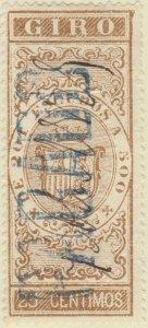 DEPENDENCIAS ESPAÑOLAS - 1868 Sello Fiscal (GIRO) 25 centimos - usado