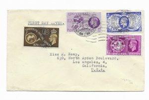 GB 276-79  1949 1st day UPU  set 4