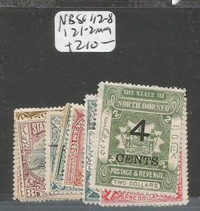 North Borneo SG 112-8, 121-2 MOG (4cwt)