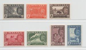 Malaya Selangor - 1961 - SG 129-35 - MH #3